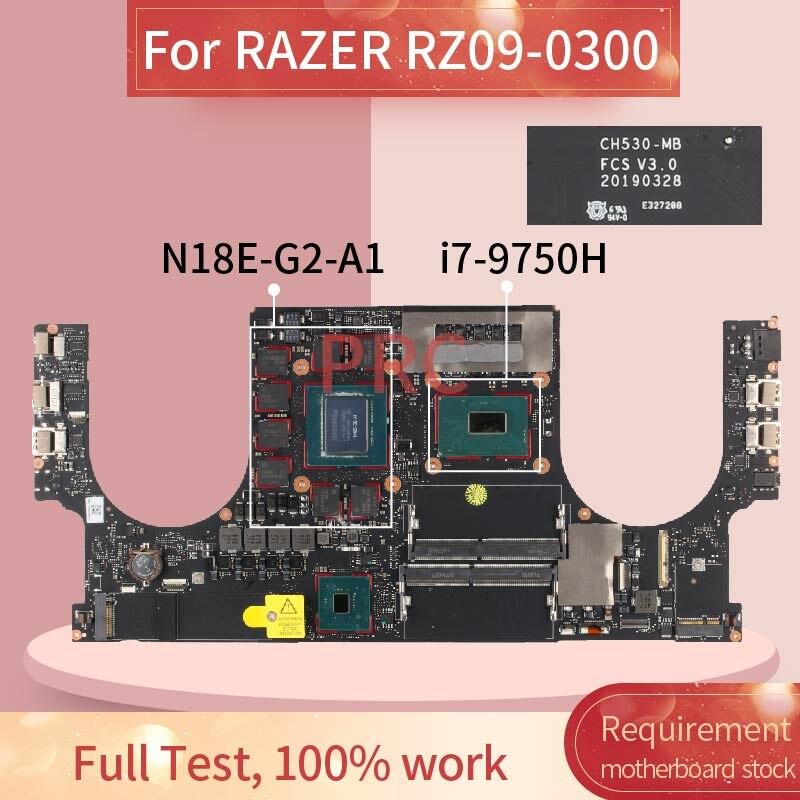 CH530-MB ل الماسح RZ09-0300 I7-9750H RTX2070 Naptop اللوحة CH530-MB SRF6U N18E-G2-A1 DDR4 مفكرة اللوحة