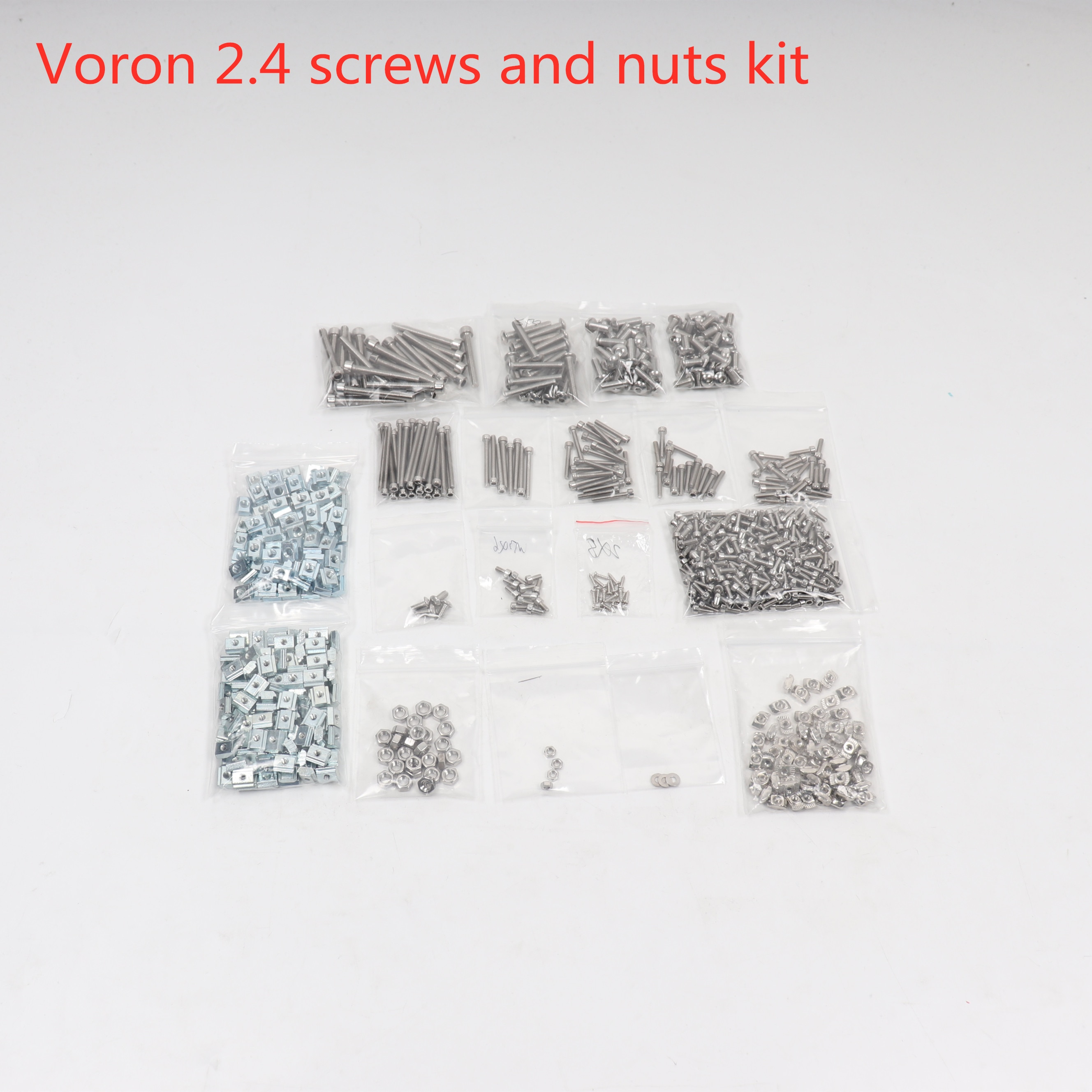 Voron 2.4 طابعة ثلاثية الأبعاد, مجموعة كاملة مع مثبتات براغي وصواميل