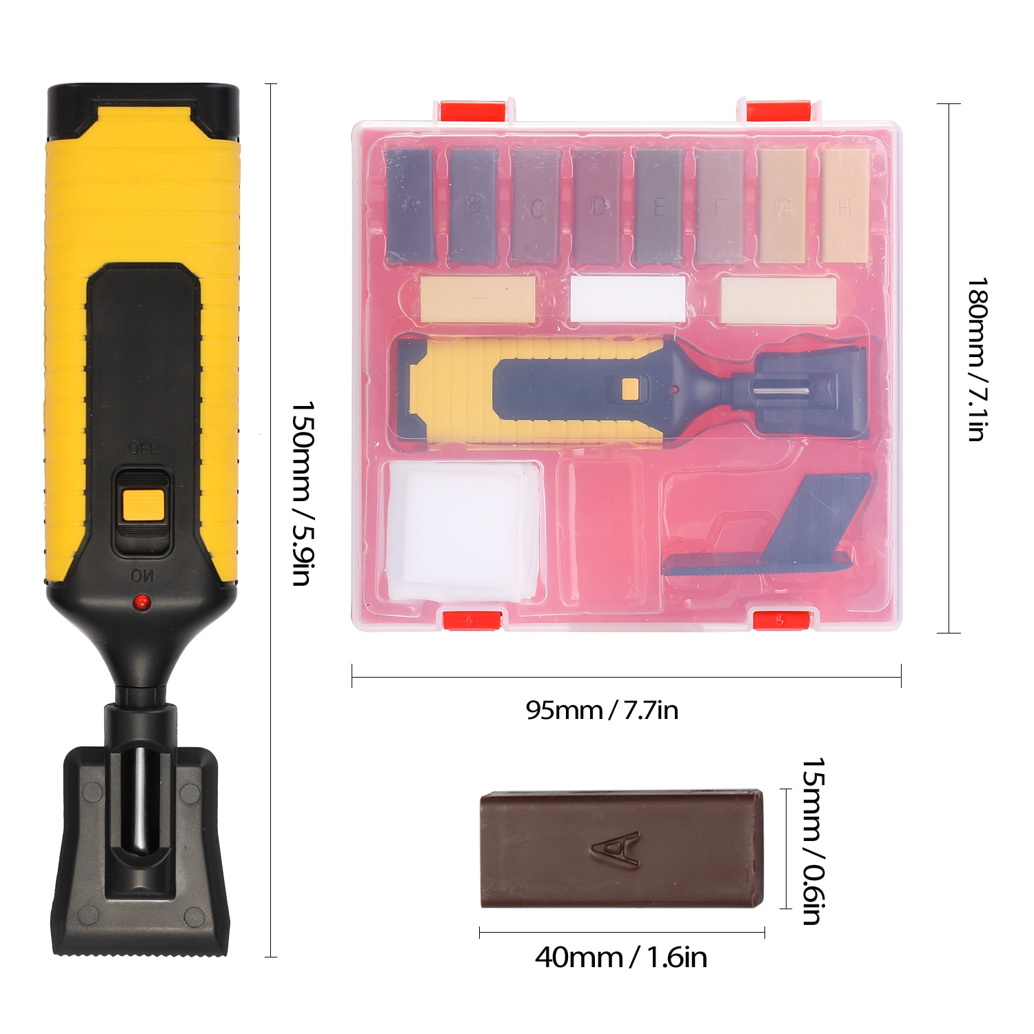 Laminate Repairing Kit Wax System Floor Worktop Sturdy Casing Chips Scratches Mending Tool Set For Use In The Home, Caravan  - buy with discount