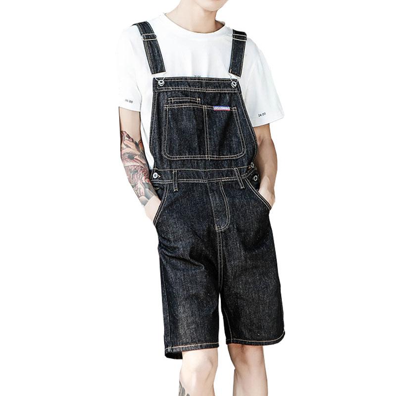Новые ретро джинсовые комбинезоны мужские прямые Свободные Комбинезоны 2020 мужские джинсовые шорты с высокой талией джинсовые шорты
