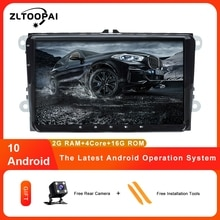 ZLTOOPAI IPS Car Multimedia Player Android 10 Auto Radio For Skoda Seat Volkswagen VW Passat B7 POLO GOLF 5 6 Stereo GPS