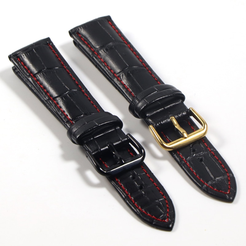genuine leather 20mm watchbands for tissot prs516 series t91 men leather watch strap sport watch band male clock bracelet belt Genuine Leather Watchbands 18mm 20mm 22mm Watch Steel Pin buckle Band Strap High Quality Wrist Belt Bracelet watch band