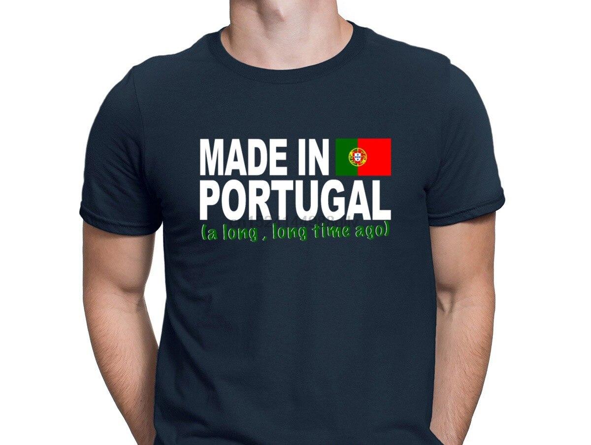 Made In Portugal EINE Lange, Lange Zeit Vor Tshirt Feste Farbe 100% Baumwolle Personalisierte T Shirt Für Männer Interessant Stilvolle sommer
