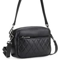 2020 new summer leather womens small square bag fashion diamond plaid diagonal cross head layer leather mobile phone bag one sh