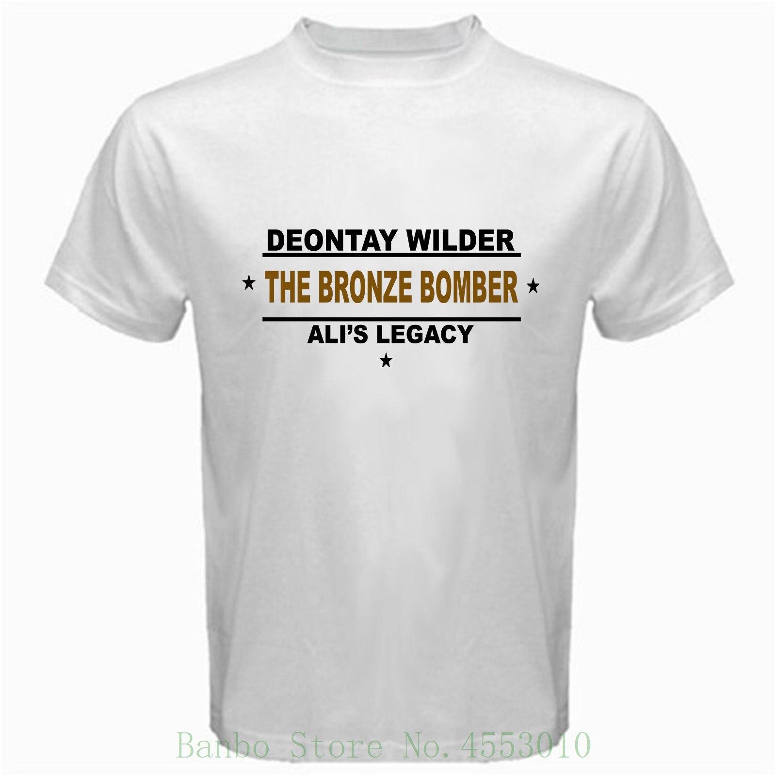 Deontay Wilder The Bronze Bomber Ali's Legacy Heavyweight Champ Tshirt White New 2018 Summer Fashion