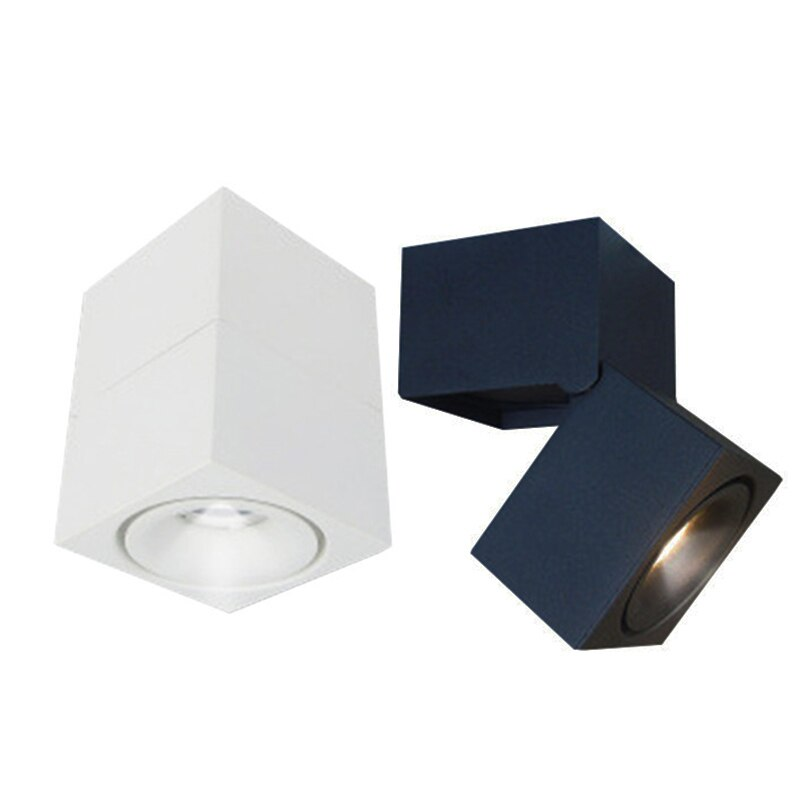 Surface mounted LED downlight 7W/12/15W 180 degree rotating Nordic dimmable downlight AC85-265V for indoor lighting