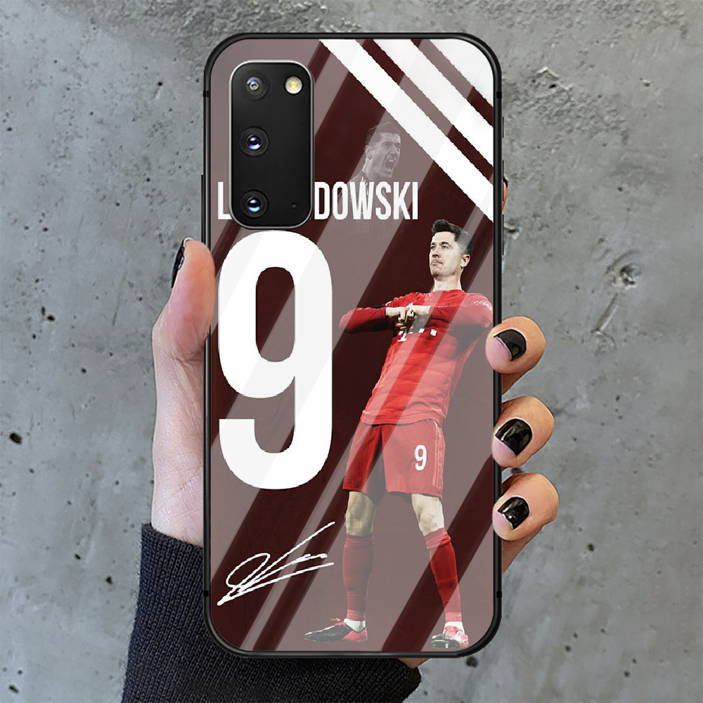 Football Lewandowski Soccer 9 Phone Tempered Glass Case Cover for Samsung Galaxy A M 10 12 20 21 30 31 40 50 51 52 70 71 72 E S  - buy with discount