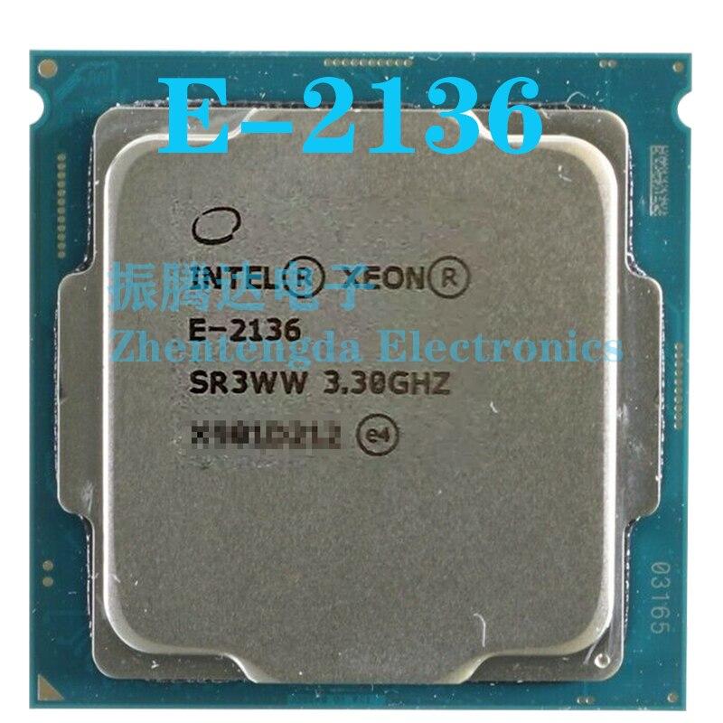 Intel Xeon E-2136 CPU 3.3GHz 12MB 6 Core 12 Thread LGA 1151 E-2136 CPU Processor