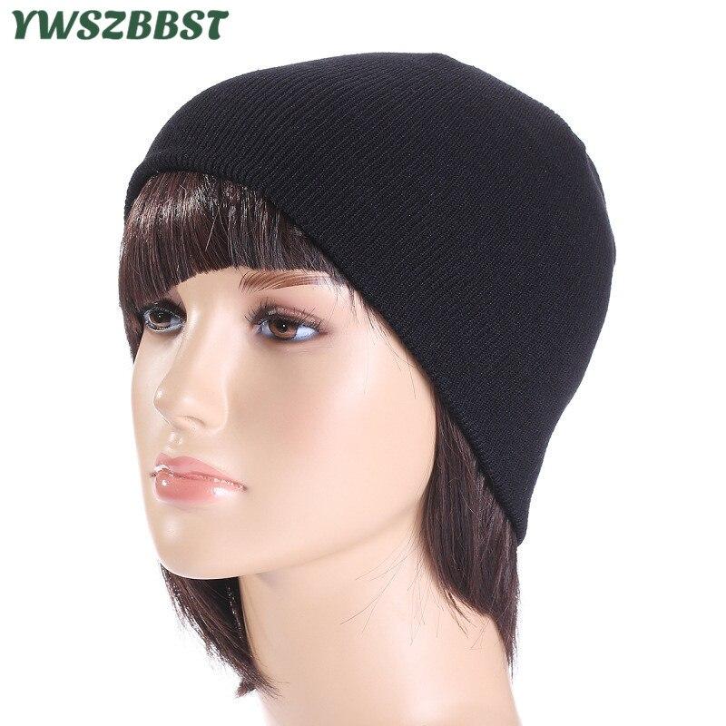 Шапки для женщин и мужчин на весну и осень, Лыжные шапки в полоску, вязаные теплые зимние шапки, женские одноцветные повседневные Шапки