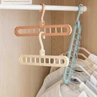 1pcs magic porous fold clothes hangers for clothes dryer rack multifunctional plastic drying hanger storage spin hanger
