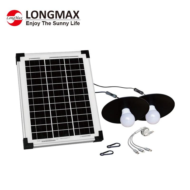 التلقائي في الهواء الطلق الإضاءة لوحة شمسية أحادية شاحن 20000mah باور بنك لشحن البطاريات النظام