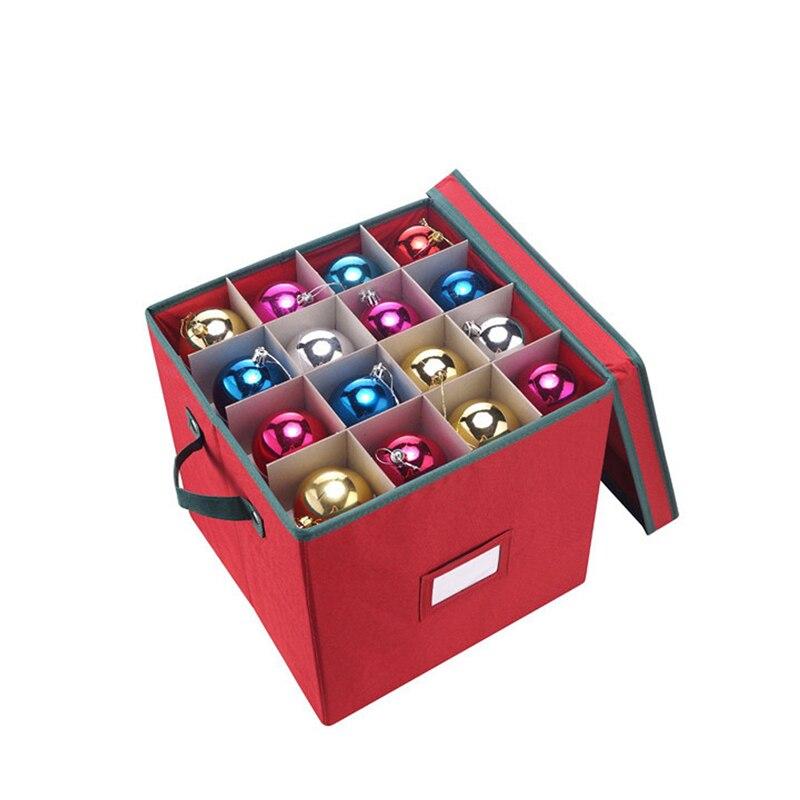 عيد الميلاد صندوق تخزين مقصورة الحاويات قابل للتعديل الحلي الحلي الحلي ديكور حلية صندوق تخزين منظم