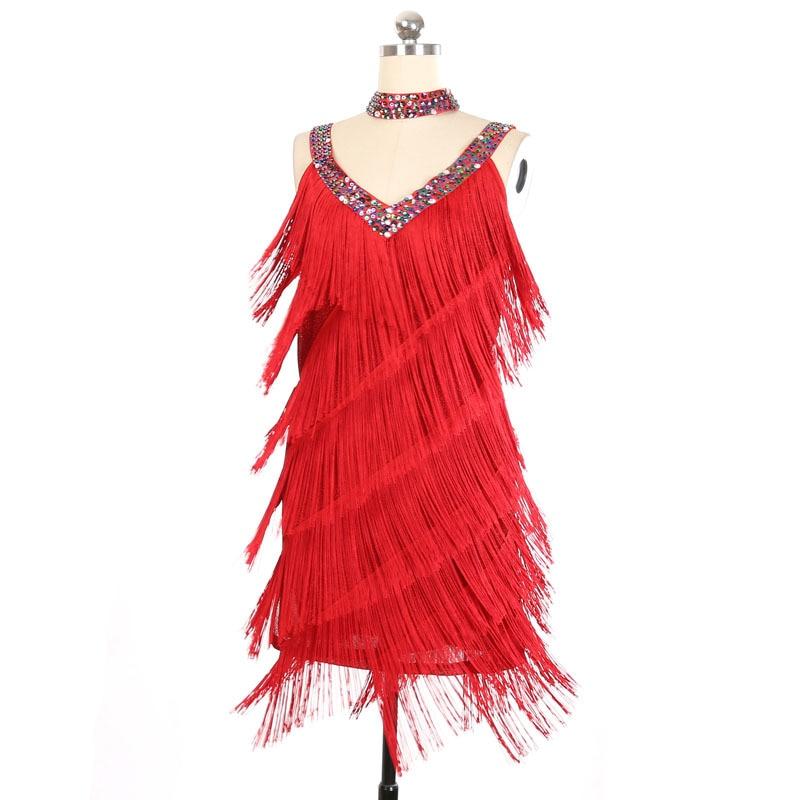 جديد إمرأة 1920s Flapper فستان السيدات العظيم غاتسبي حفلة تشارلستون رقص أزياء مسرحية هامش مطرزة اللاتينية فستان السالسا