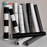 Autocollants muraux en bois noir auto-adhesifs  Film decoratif pour renovation de meubles  garde-robe  porte de bureau  papier peint impermeable en PVC