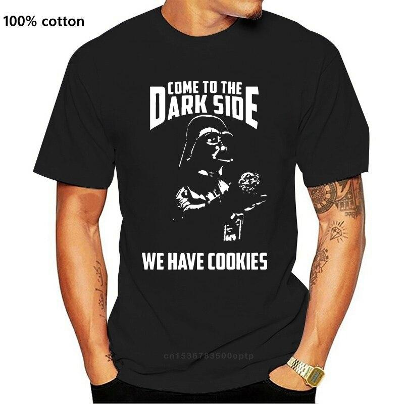 Harajuku Streetwear Shirt Mendarth Vader Komen Om De Dark Side We Hebben Cookies Zwarte T-shirt