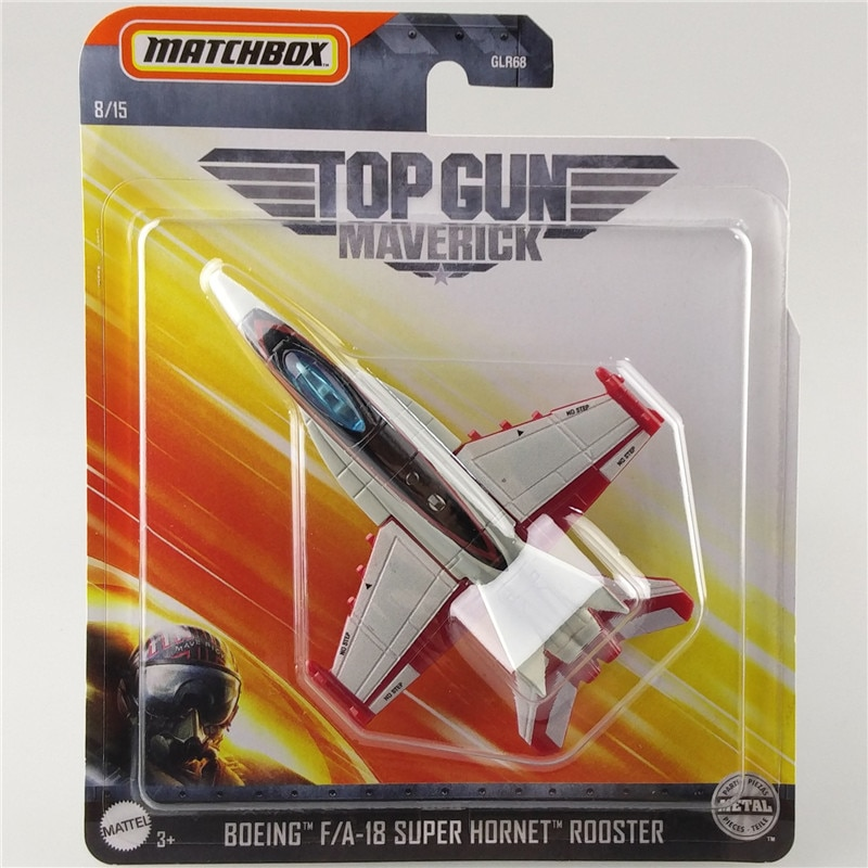 Matchbox 2020, avión BOEING F/A-18, SUPER HORNET, pistola Maverick, colección de Metal, simulación de aleación, modelo de aviones