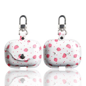 For airpods pro cases cute luxury PU leather cover with keychain pattern cartoon for airpods 1 2 case anime protective cover new