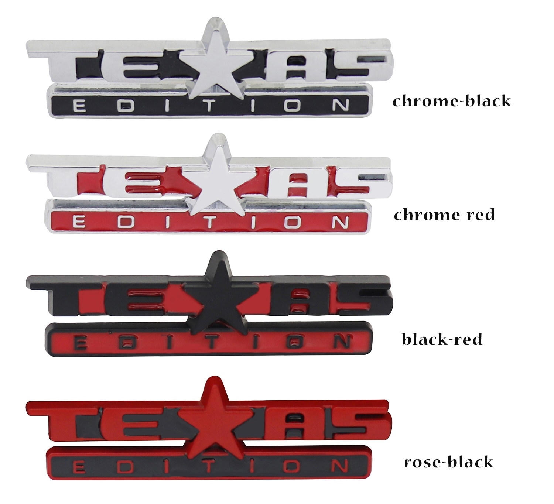 2 pçs texas edition para sierra silverado suburban dashboard fender tronco emblema adesivo