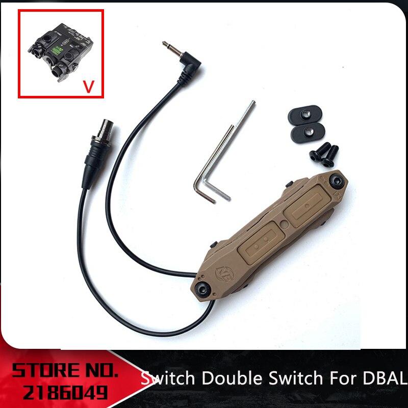 Interruptor de presión de aumento táctico Airsoft doble interruptor para DBAL A2 3,5mm airsoft NE08080