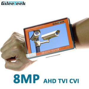IV5 5 inch 8MP CCTV Camera Tester AHD Tester monitor TVI CVI CVBS portable CCTV tester Monitor Support UTP PTZ tester cameras