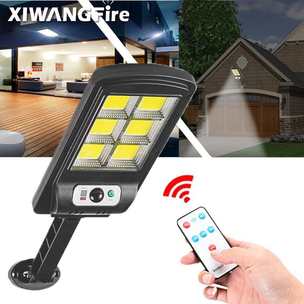 Solar Light 128 COB Large Outdoor Solar Waterproof Street Light Garden Infrared Sensor Motion Sensor Smart Remote Control Light