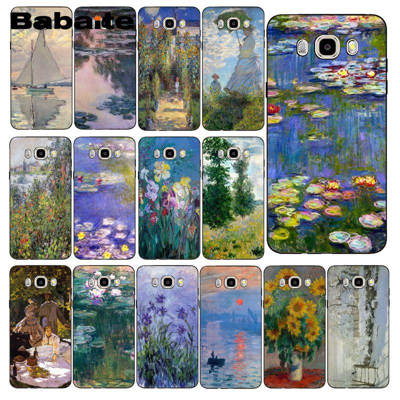 Чехол для телефона Babaite Claude Monet с рисунком подсолнуха, задняя крышка для Samsung Galaxy J7 J6 J8 J4 J4Plus J7 DUO J7NEO J2 J5 Prime