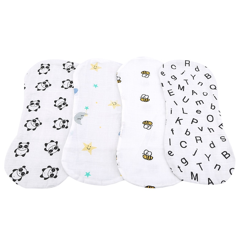 New Cotton Baby Bibs Towel Burp Cloths Muslin Cotton Infant Feeding Bathing Face Washing Spit Milk Bibs
