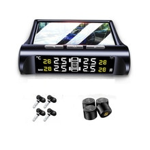Solar Power TPMS Car Tire Pressure Alarm Monitor System Auto Security Alarm Systems Tyre Pressure Di