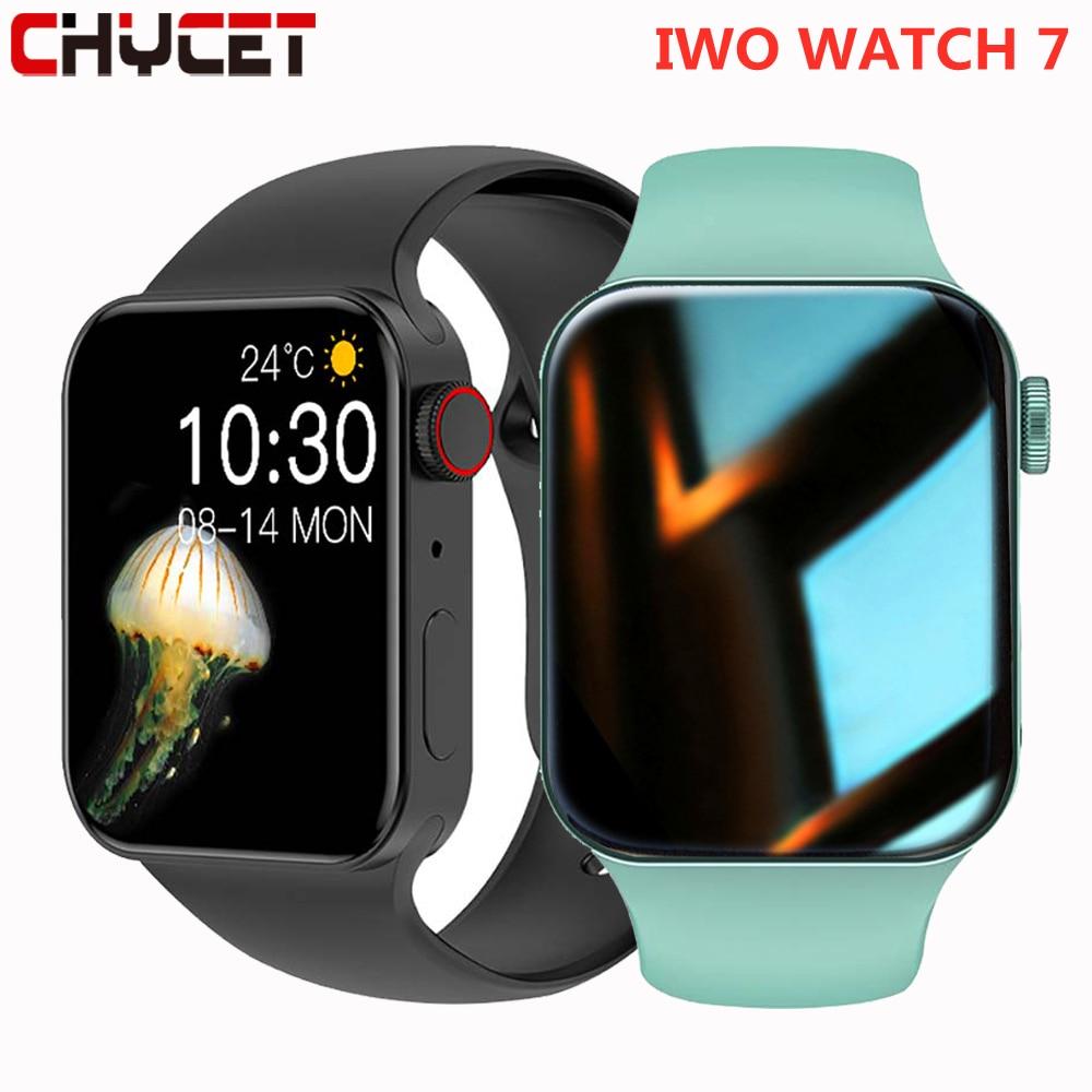 CHYCET جديد IWO ساعة ذكية سلسلة 7 رصد معدل ضربات القلب 2021 Smartwatch الرجال النساء اللياقة البدنية تعقب سوار ل أندرويد IOS آيفون