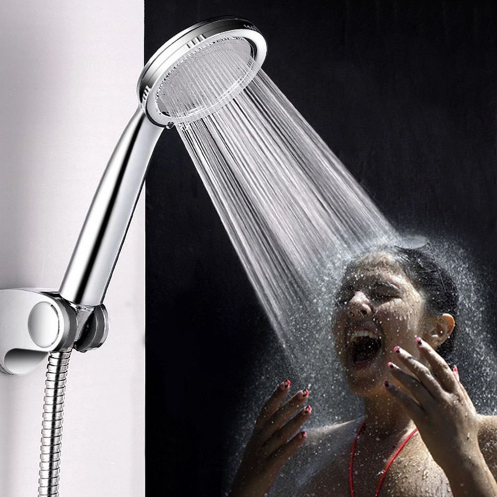 Shower Head ABS water saving showerhead filter High Pressure bath spray Rainfall Handheld Bathing No