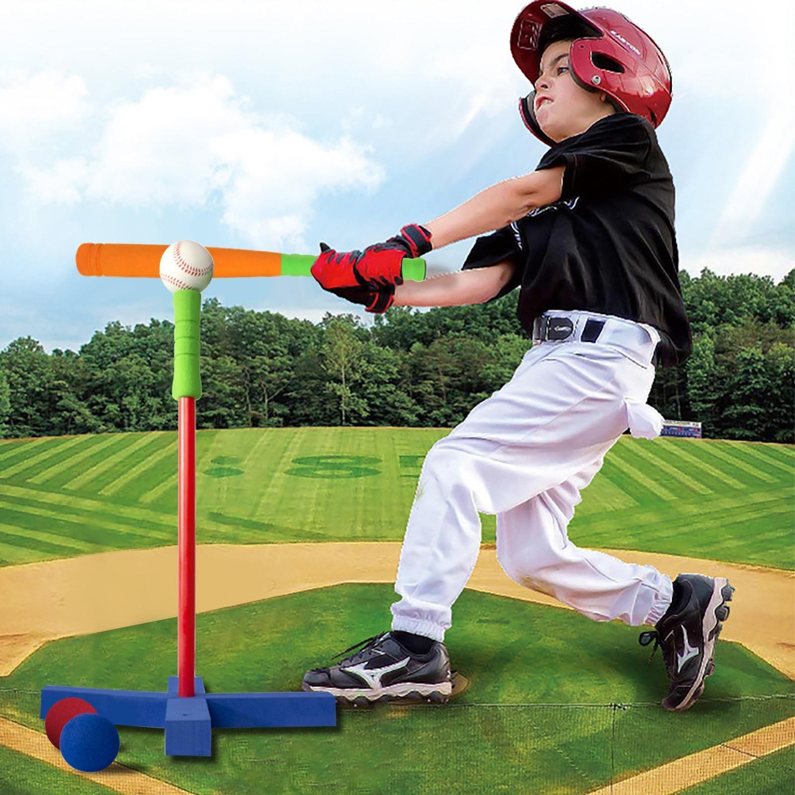 في الهواء الطلق ألعاب الكرة التدريب البيسبول مجموعة للأطفال البولينج كرات الغولف برو مجموعة حلقة بلاستيكية مجموعة للأطفال الصغار أكثر من 3 س...