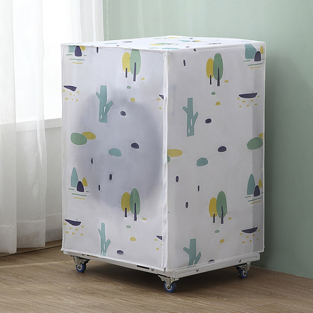 Washing Machine Cover, Waterproof Sun-resistant Dustproof Oil Resistant Cartoon Printed Breathable Cover for Top Load and Front enlarge