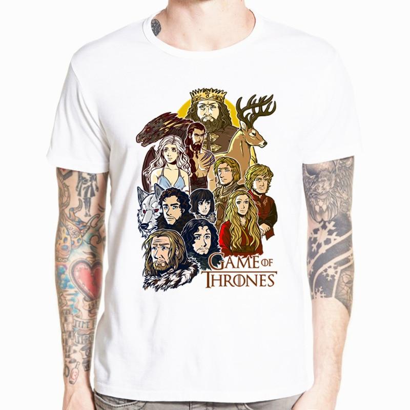 Manga corta Camiseta cuello redondo Juego de tronos Swag hombres Tyrion Lannister I DRINK AND I KNOW THINGS camiseta Tops de talla grande