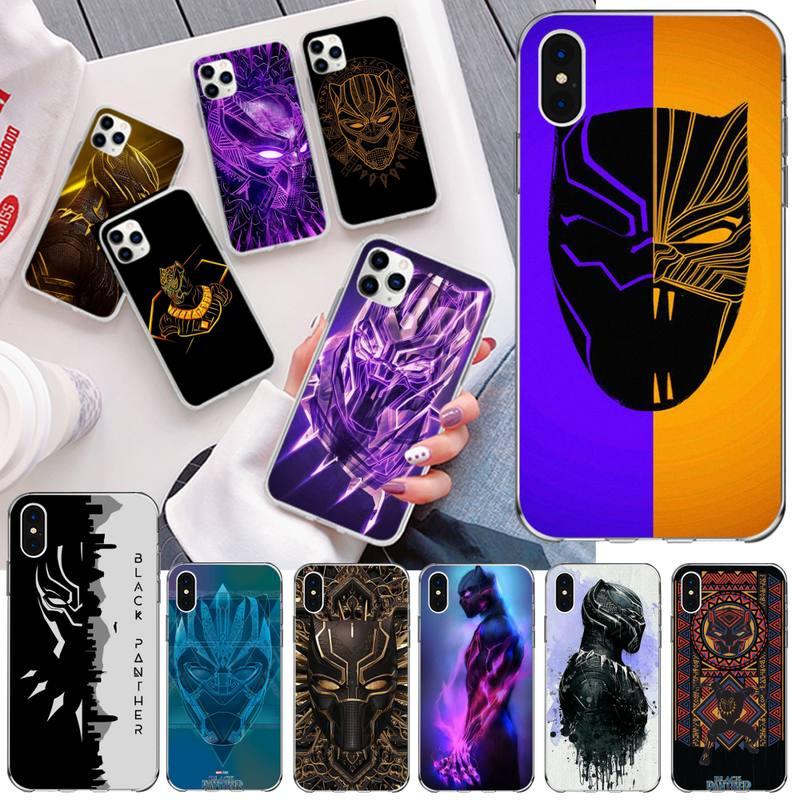 Legal marvel heroe black panther bling bonito caso de telefone para iphone 11 pro xs max 8 7 6 s plus x 5S se 2020 xr capa