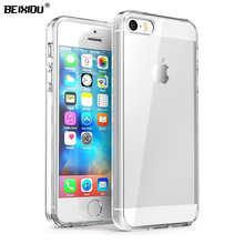 Защитный чехол для iPhone SE, прозрачный мягкий чехол из силикона и ТПУ для iPhone SE, 5, iPhone SE, 5, iPhone SE, 5, iPhone SE, 5, прочный, прозрачный, мягкий