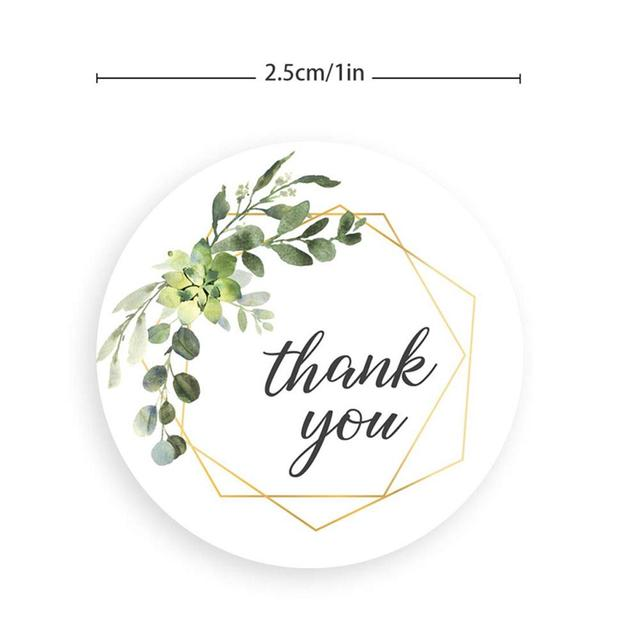 Thank You Stickers Seal Labels Stationery Sticker Gift Box Home Decoration Accessories 10