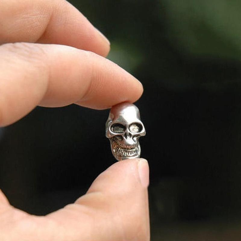 1/5PCS EDC Tool Skull Skeleton Paracord Pendant Knife Flashlight Accessories Pendant Bracelet W0X7