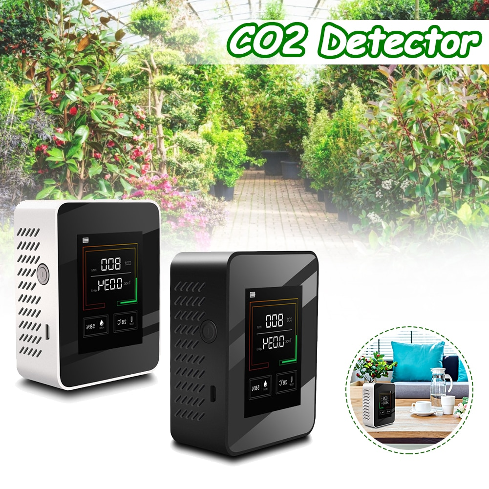 Portable Air Quality Monitor газоанализатор Multifunctional Air Gas Detector AirQuality Tester for CO2 HCHO TVOC for Home Office