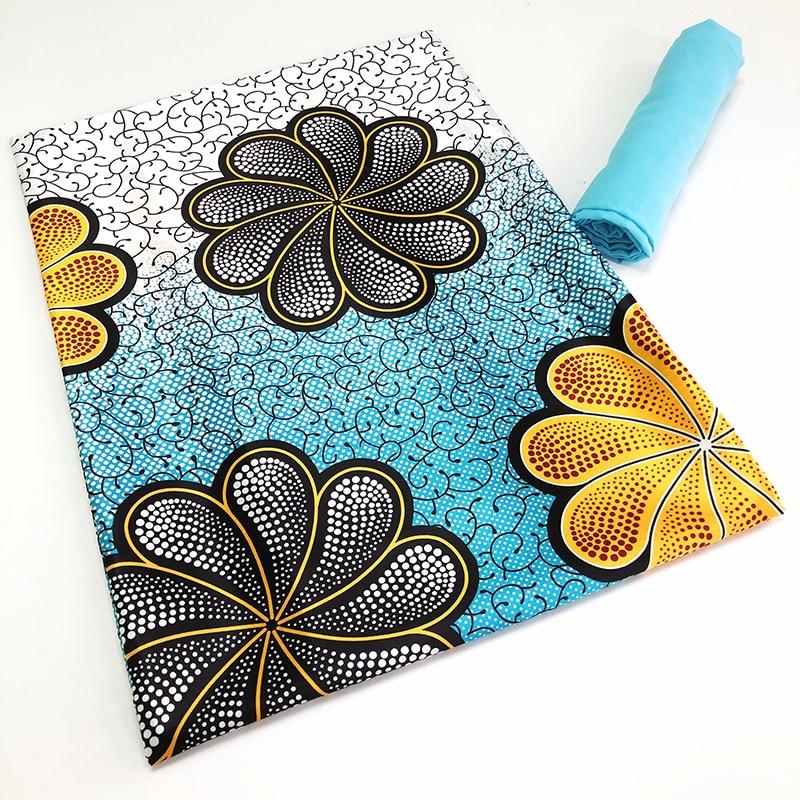 African French Net Mesh Tulle 2021 High Quality Lace Digital Printed Ankara Organza Silk Ribbon Satin Chiffon Fabric 4+2Y/Set