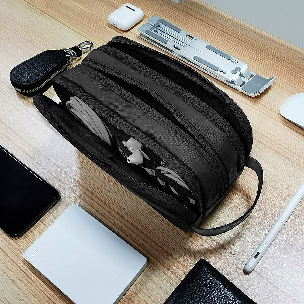 WIWU Electronic Storage Bag Portable Design Travelling Organize Carry Pouch for Mobile Phone Cables Charger Gadget Storage Bags 2