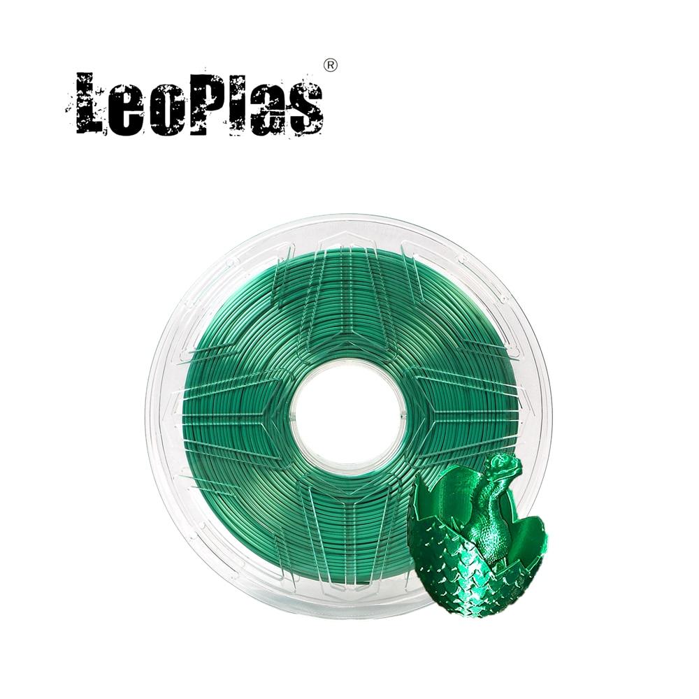 LeoPlas-خيوط معدنية لامعة ، 1 كجم ، 1.75 مللي متر ، حرير أخضر زمردي ، لقلم الطابعة ثلاثية الأبعاد ، لوازم طباعة استهلاكية ، مادة بلاستيكية
