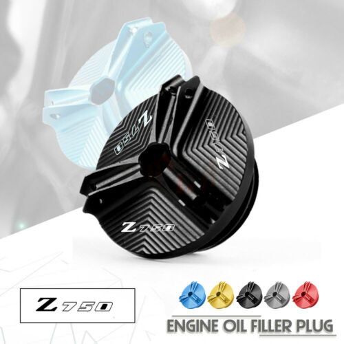 Motorcycle Parts CNC Engine Oil Fuel Filler Filter Tank Cap Cover Plug  For KAWASAKI Z750/S Z750 /S 2004-2010