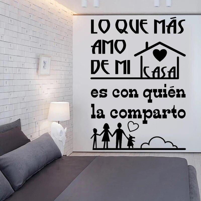 Lo Qvf-pegatinas De pared De vinilo con citas en español para decoración,...