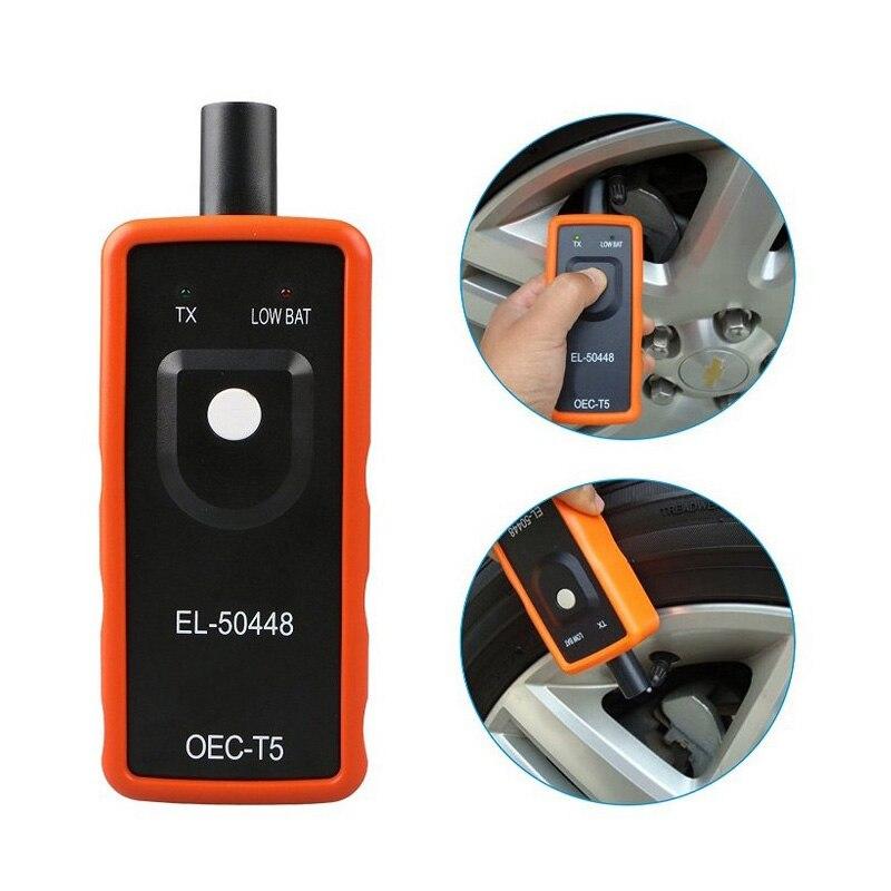 Monitor de alarma de presión de neumáticos para coche, Sensor de sistema el 50448 TPMS para vehículos de la serie GM/Opel, reinicio de activación EL-50448 programación