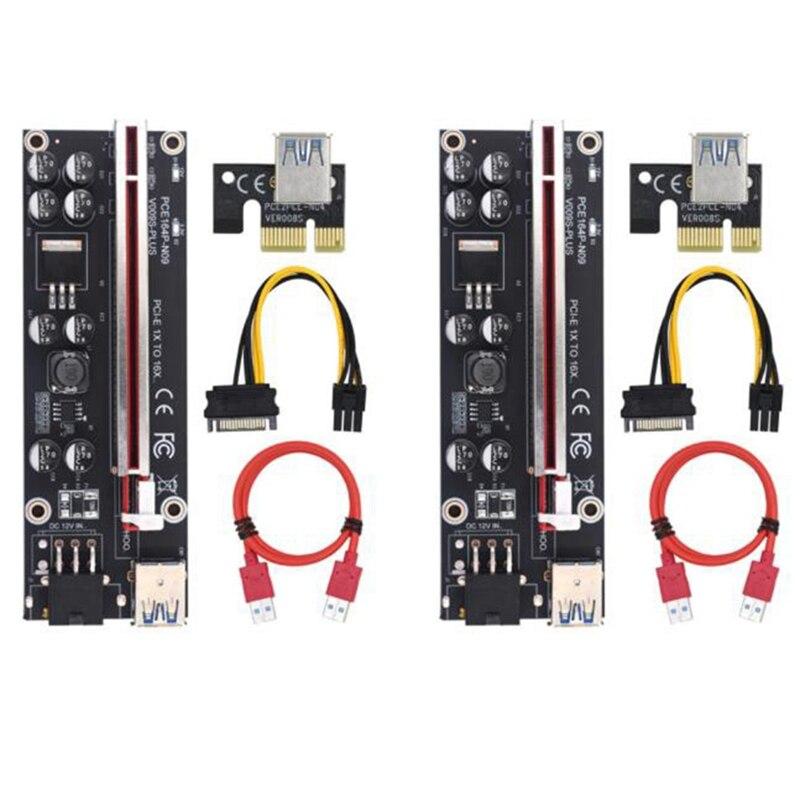 VER009S زائد PCI-E الناهض بطاقة 009S PCIE X1 إلى X16 6Pin الطاقة 60 سنتيمتر USB 3.0 كابل للتعدين بطاقة جرافيكس GPU