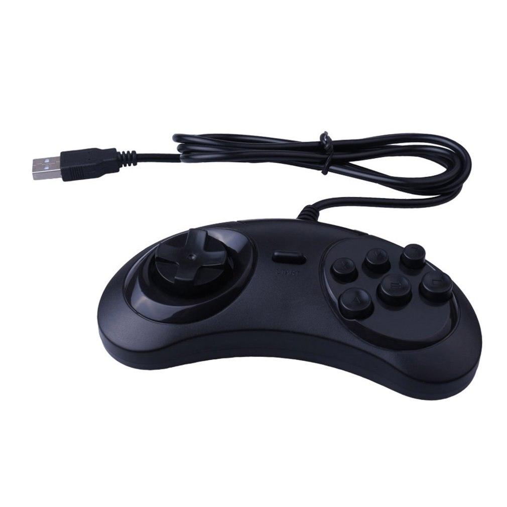 Gamepad USB 6 botones de juego controlador USB SEGA juego Joystick soporte...