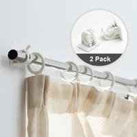 Supports de tringles a rideaux auto-adhesifs  2 pieces  supports de poteaux organises  salle de bains  barre a serviettes  crochet  pinces de Support fixes C