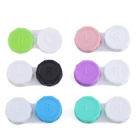 1pcs glasses cosmetic contact lenses box contact lens case for eyes travel kit holder container travel accessories wholesale