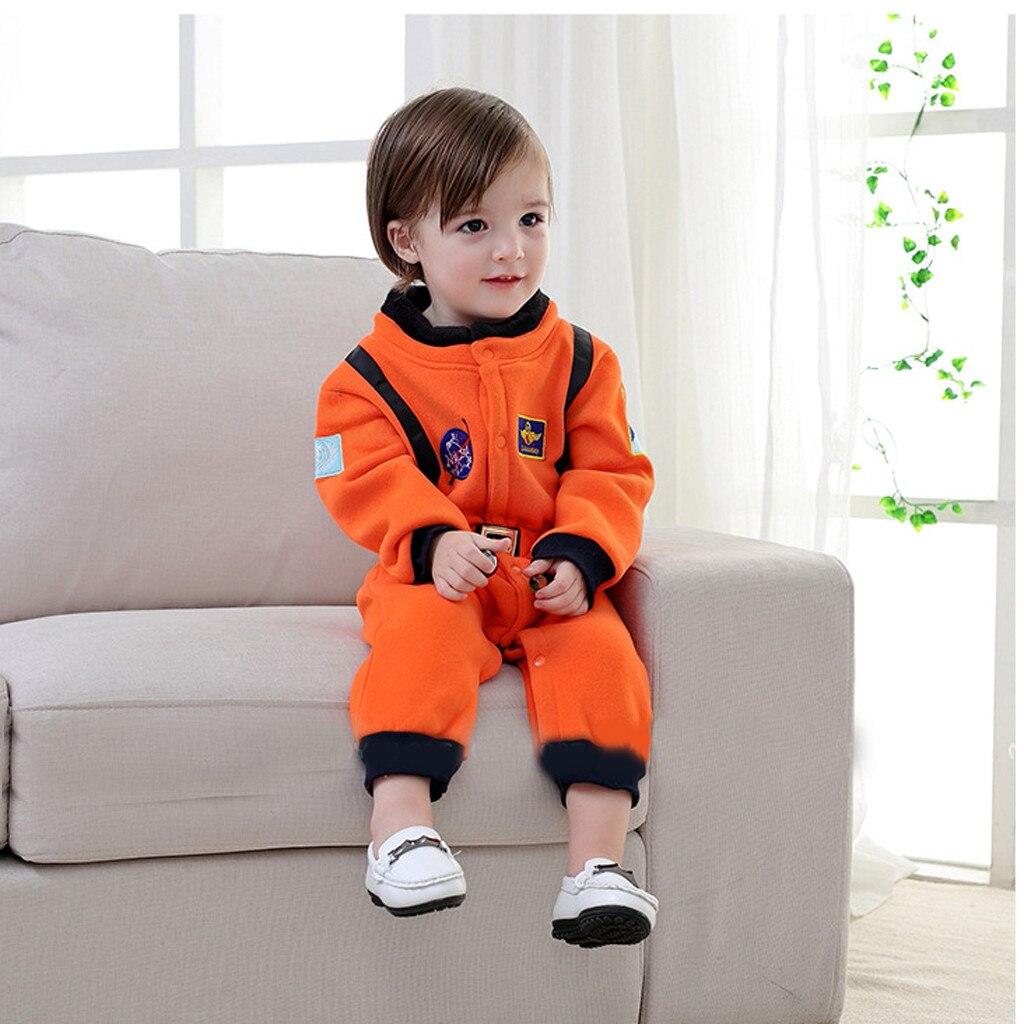 Recién Nacido bebé mameluco niño bebé Roleplay astronauta hombre del espacio Cosplay traje de manga larga cuello redondo mono de un solo pecho