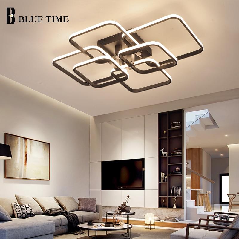 Plafonnier suspendu au design moderne, éclairage dintérieur, éclairage dintérieur, luminaire dintérieur, avec application RC Dim, disponible en noir et blanc, idéal pour un salon ou une chambre à coucher, LED